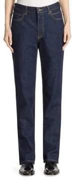 Calvin Klein High-Rise Straight Cotton Jeans