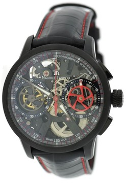 Maurice Lacroix Muarice Lacroix MP7128-SS00130 PVD Coated Stainless Steel & Leather Automatic 45mm Mens Watch
