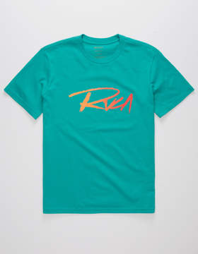 RVCA Skratch Teal Blue Boys T-Shirt