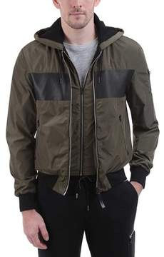 Mackage Weston Color Block Hooded Bomber Jacket (Men's)