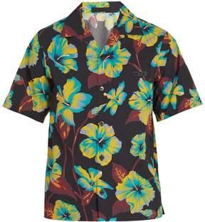 Prada Floral-print cotton bowling shirt