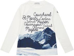 Moncler Snow Scene Long Sleeve T-Shirt