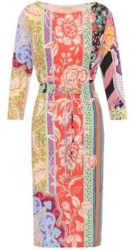 Etro Floral-printed silk dress