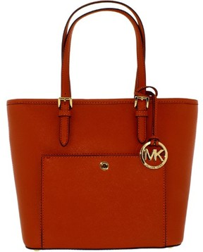MICHAEL Michael Kors Jet Set Snap-Pocket Tote - ORANGE - STYLE