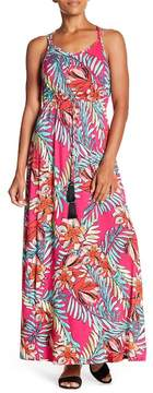 Spense Waist Tassel Floral Maxi Dress