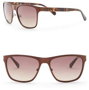 GUESS 57mm Rectangle Sunglasses