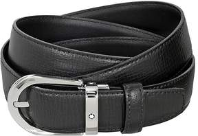 Montblanc Black Printed Leather Belt
