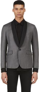 Band Of Outsiders Grey Wool Striped Blazer