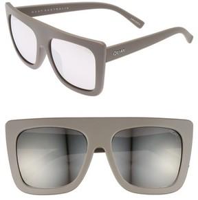 Quay Women's Cafe Racer 60Mm Sunglasses - Grey/ Silver