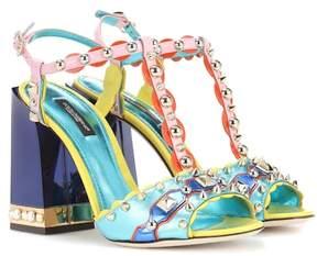 Dolce & Gabbana Embellished leather sandals