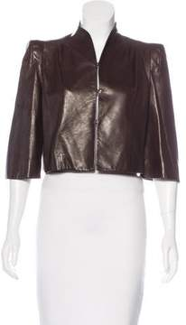 Christian Dior Structured Leather Jacket