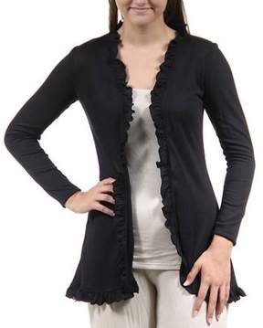 24/7 Comfort Apparel Women's Ruffled Hacci Shrug