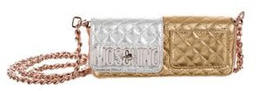 Moschino Metallic Quilted Crossbody Bag
