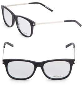 Saint Laurent Shiny 52MM Rectangle Opticals
