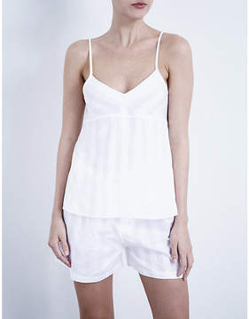 Bodas Shadow Stripe cotton camisole