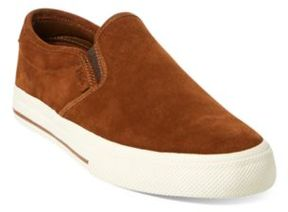 Ralph Lauren Vaughn Suede Slip-On Sneaker New Snuff 10