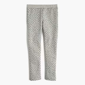 J.Crew Girls' cozy everyday leggings in glitter hearts