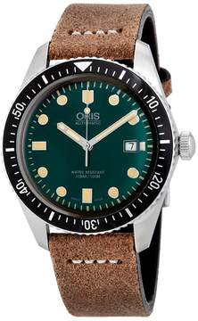 Oris Divers Dixry Five Green Dial Men's Watch 733-7720-4057LS