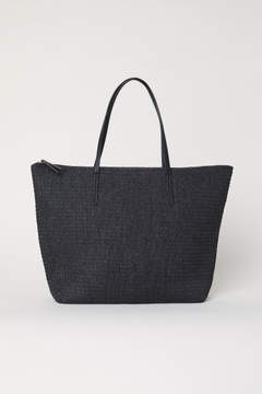 H&M Straw Bag - Black