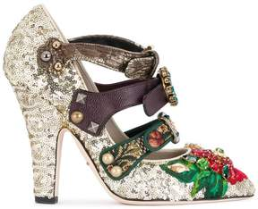 Dolce & Gabbana buckle strap embellished pumps