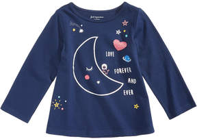 First Impressions Moon-Print Cotton T-Shirt, Baby Girls (0-24 months), Created for Macy's