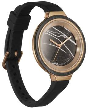 RumbaTime Orchard Marble Black Silicone Strap Watch