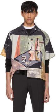 Prada Multicolor Art Print Bowling Shirt