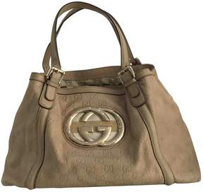 Gucci GG leather tote - BEIGE - STYLE