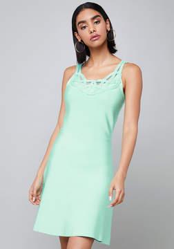 Bebe Neckline Trim Dress