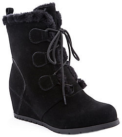Bare Traps BareTraps Cold Weather Leather Wedge Ankle Boots - Bonnie