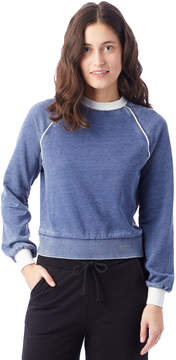 Alternative Apparel High Waisted Burnout French Terry Sweatshirt