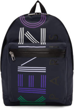 Kenzo Navy Limited Edition Logo Backpack
