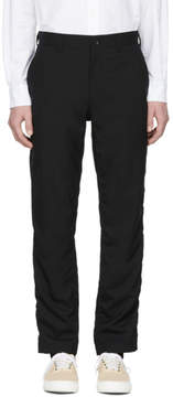 Comme des Garcons Homme Black Tropical Wool Trousers