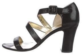 Walter Steiger Embossed Multistrap Sandals