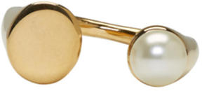 Chloé Gold Small Darcey Pearl Ring