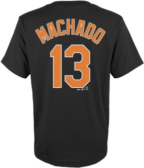 Majestic Boys 4-18 Baltimore Orioles Manny Machado Player Name and Number Tee