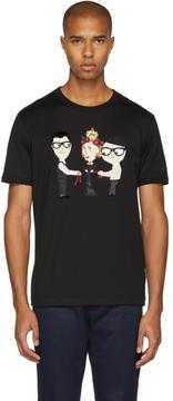 Dolce & Gabbana Black Queen Designers T-Shirt
