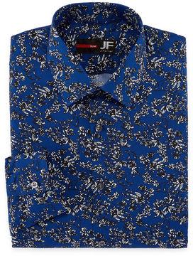 Jf J.Ferrar Long Sleeve Woven Floral Dress Shirt - Slim