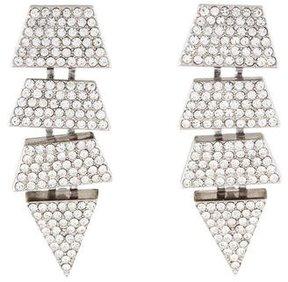 Eddie Borgo Crystal Geometric Drop Earrings