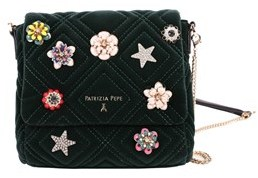 Patrizia Pepe Women's Green Leather Shoulder Bag.
