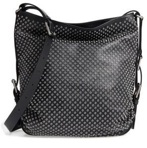 Michael Kors Medium Naomi Grommet Leather Hobo - Black - BLACK - STYLE
