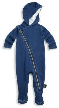 Nununu Baby's Denim Hooded Footie