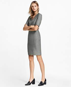 Brooks Brothers Sharkskin Stretch Wool Sheath Dress