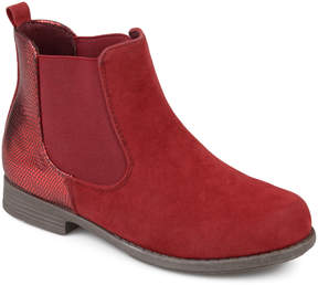 Journee Collection Red Sawyer Ankle Boot