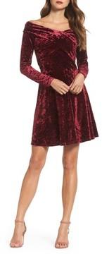 Chelsea28 Women's Off The Shoulder Velvet A-Line Dress