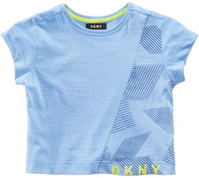 DKNY Asymmetrical Striped T-Shirt, Big Girls