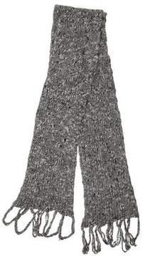 Christian Dior Fringe-Trimmed Wool Scarf
