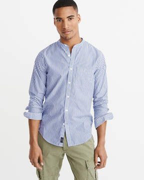Abercrombie & Fitch Banded Collar Poplin Shirt