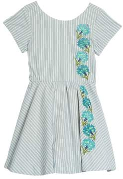 Tea Collection Floral Embroidered Dress
