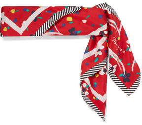 Marc Jacobs Printed Silk-twill Scarf - Red